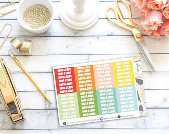 Odds & Ends Headers #1    56 Planner Stickers