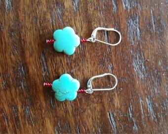 Turquoise beaded earings