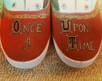 Hand painted Once Upon a Time shoes!
