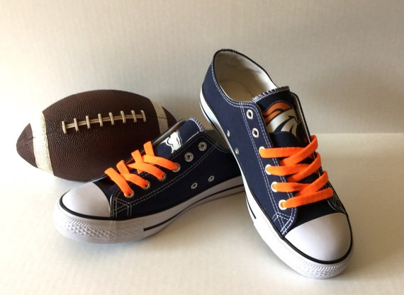 denver broncos s athletic shoes by sportzunlimited on etsy