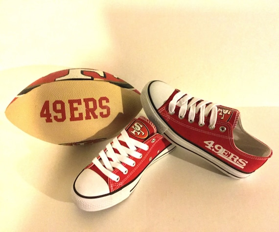 san francisco 49ers s athletic shoes by sportzunlimited
