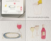 Wine Note Cards -- The Vine Inspiration -- CD Tin