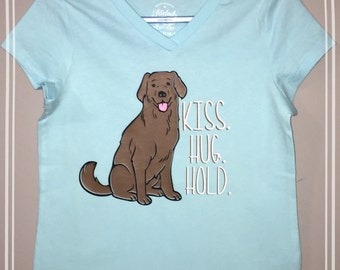 The sweetpea shirt!                   Kiss.hug.hold.   The endless love of a puppy.