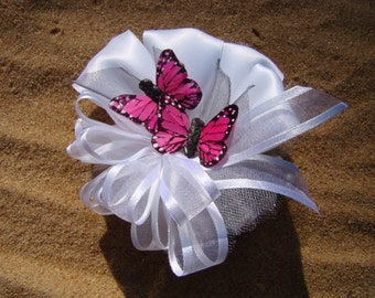 Pin On Corsage With Multiple Butterflies