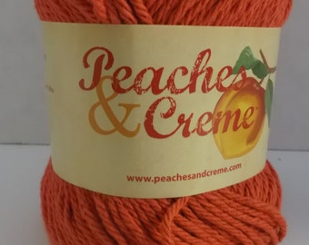 Peaches & Creme Cotton Yarn ~ Colour Earthy Orange ~ #4 Medium Worsted ~