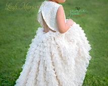 "The ""Evelyn"" Couture Ivory Dress for Girls - Mommy & Me - Flower Girl - Runway Dress - Pageant - Mini Bride - Styled Shoot - First Communion"