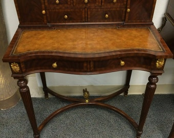 Maitland-Smith 1800's Writing Desk w/ Cane Chair