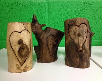 Wooden Heart Box / Jewellry Box