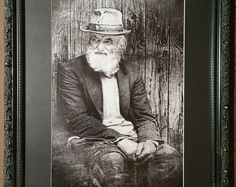 Old Man Black and White