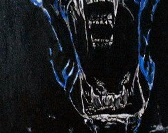 Xenomorph (Alien) Acrylic painting.