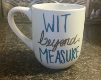 Wit Beyond Measure Harry Potter inspired Ravenclaw 12 oz coffee mug