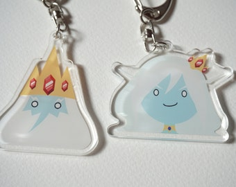 Adventure Time Ice King & Ice Queen acrylic charms