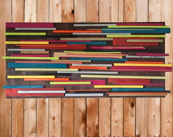 Colorful Wooden Wall Art