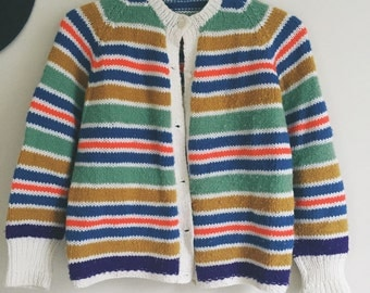 Stripe caridigan 70s button up sweater