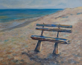 The bench on a beach