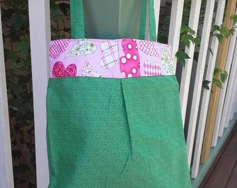Green & Pink Tote Bag