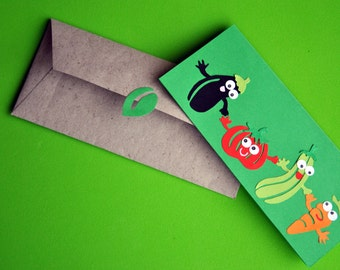 Animated greeting card plants with fruit and vegetables