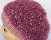 Hand-knitted hats, knitted pink hat, hand-knitted winter hats, knit women's hats, knitting hats, pink knit hat