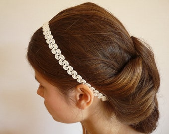 lovely merlons pattern headband