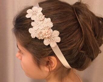 lace flowers headband