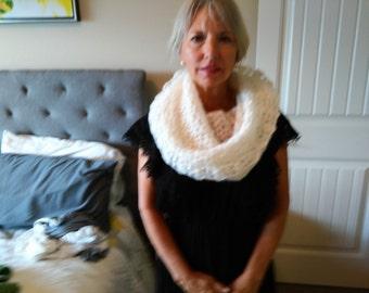 Handmade, crocheted, Lacy Cowl