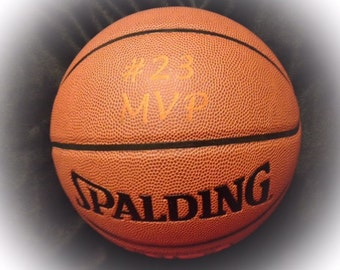 Customized Personalized Laser Engraved Basketball Spaldng NBA Official Size Gift