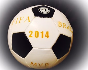 Customized, Personalized Laser Engraved Soccer Ball