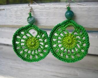PATTERN Crochet earrings, Two patterns, PDF file crochet earrings