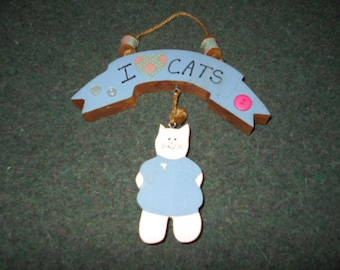 I Love Cats Hanging Decoration