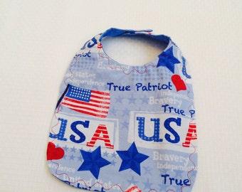 Fourth Of July Baby Bib