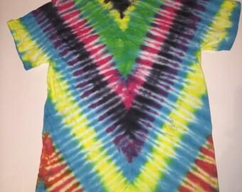 Diagonal Fan Fold Tie Dye