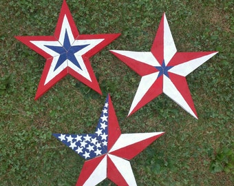 Patriotic reclaimed wood star, Fourth of July, Memorial day, Americana, holiday, gift