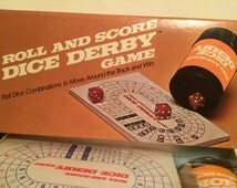 Dice & Derby Game,Vintage Milton Bradley, E.S. Lowe, unopened, circa 1977