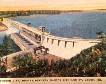 Postcard; Lake of the Ozark's; Bagnell Dam