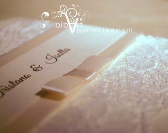 Wedding invitation participation B109 Naples