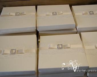 PARTICIPATION lace WEDDING BOX