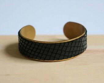 Leather cuff bracelet - cuff leather #1