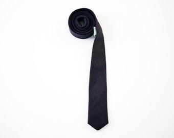 Purple hemp skinny tie
