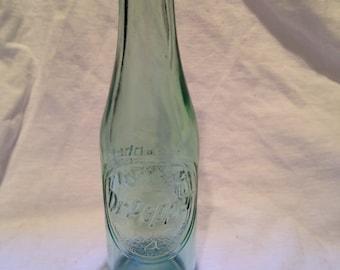 Vintage Green Dr. Pepper Glass Soda Bottle
