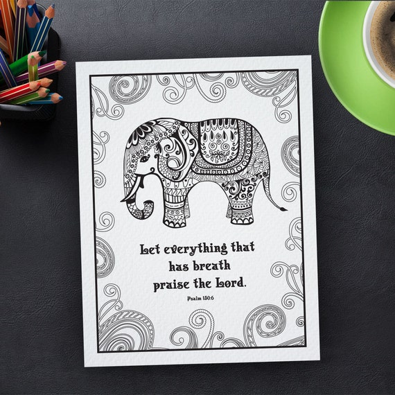 Adult Coloring Page Printable Bible verse Psalm by ...