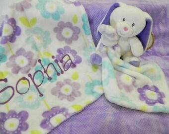 Embroidered Baby Blanket & Blanket Buddy
