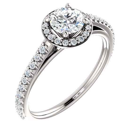 Diamond Halo Engagement Ring Halo Engagement Ring Simple