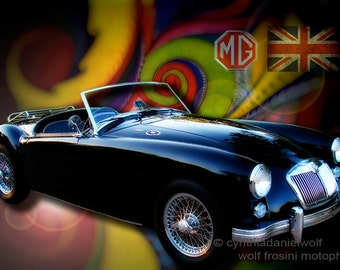 MG 1959, Metal Prints, Classic Car Art, Car Prints, Car Art, Wall Art, Photography, Prints, Gifts for Him, Home Décor, Home and Living
