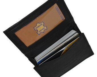 Genuine Leather Expandable Credit Card/Business Card Holder