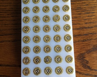 100 pieces - 9mm Luger Brass Bullets / Shells / Casings For Jewelry and crafts - Once Fired, cleaned and polished