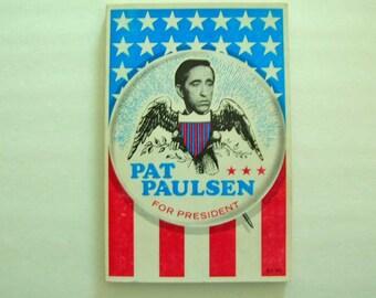 Pat Paulsen For President Book 1968 Presidential Political Collectible Humor
