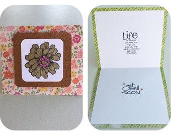 Get Well Card. Handmade.