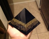 Beautiful Large Black and 'Gold' Orgone Pyramid