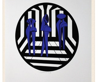 Original silkscreen, Amelio Roccamonte (2), 1970 / Bauhaus