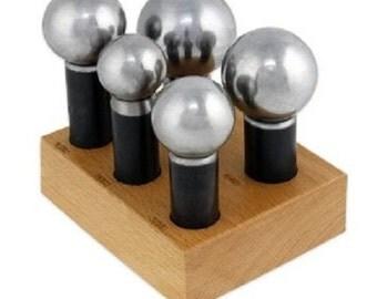 Extra Large Jumbo Doming Set 5 Piece Kit 28-45mm UK Stock Free P&P High Quality